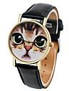 Жен. Модные часы Кварцевый Кожа Группа Черный Белый Коричневый Зеленый Розовый