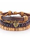 Men\'s Leather Leather Bracelet Wrap Bracelet - LOVE Coffee Bracelet For Daily Casual