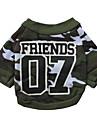 Chat Chien Sweatshirt Vetements pour Chien camouflage Vert Coton Costume Pour les animaux domestiques Homme Femme Mode