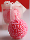 Ball-Flower Candle Christmas Gift Wedding Decoration 7.1*7.4cm