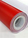 """lorcoo ™ carbonio 3d pellicola vinile della fibra dell'involucro 12 """"x60"""" foglio (regalo libero bordo tergipavimento)"""