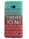 Forever Young Painting Pattern TPU Soft Case for Microsoft Nokia Lumia 640/530/630