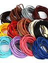 beadia 5 мтс 3мм круглый кожаный шнур& провод& строка& ювелирных изделий шнура (13 цветов)