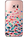 Case For Samsung Galaxy Samsung Galaxy S7 Edge Transparent Pattern Back Cover Heart Soft TPU for S7 edge S7 S6 edge plus S6 edge S6