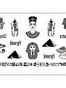5 Tatouages Autocollants Series bijoux / Series animales / Series de fleur / Series de totem / Autres / Cartoon SeriesNon Toxic / Motif /