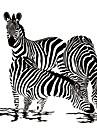 Животные / 3D Наклейки Простые наклейки Декоративные наклейки на стены,vinyl материал Съемная / Положение регулируется Украшение дома