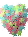 100Pcs   Children Sticky Childrens Room  Fluorescent Stars Pentagram Style Decorative Stickers