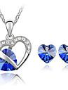 Γυναικεία Κρυστάλλινο Κοσμήματα Σετ Κρύσταλλο Love κυρίες, Μοντέρνα Περιλαμβάνω Κολιέ / Σκουλαρίκια Κίτρινο / Μπλε Για Καθημερινά Causal / Cercei