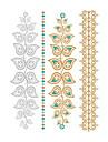 1 Временные тату Тату с цветами Non Toxic / Waterproof / Металлик / СвадьбаЖенский / Мужской / Взрослый / Подростки Вспышка татуировки