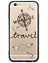 Back Cover Transparent Compass Pattern Cartoon TPU Hard Case Cover For Apple iPhone 6s 6 Plus SE/5s/5