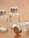 botella de condimento transparente de cristal botella de condimento transparente con tapa perforada
