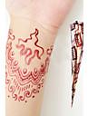 Хэллоуин природные травяные хны временная татуировка Mehandi конусов искусство тела versha (красный)