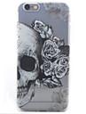 Skull Pattern Painted Transparent TPU Material Phone Case for iPhone 5c/5/5S/SE/6/6S/6 Plus/6S Plus