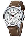 Муж. Наручные часы Армейские часы Модные часы Кварцевый Японский кварц Защита от влаги Светящийся Кожа Группа Cool Коричневый Хаки