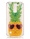 TPU + IMD Material Pineapple Pattern Painted Relief Phone Case for LG K10/K8/K7/K4