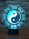 1 pc 3D Nightlight USB Multi Color Glass ABS 1 Light No Batteries Included 22.0*17.0*4.5cm