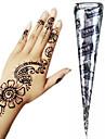 черный * травяные хны конусы временную татуировку комплект боди-арт Mehandi чернила хина