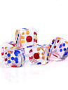 Dice Dices and Chips Toys Square Crystal PVC 5 Pieces Gift