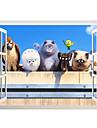 Декоративные наклейки на стены - 3D наклейки Животные / Рождество / 3D Гостиная / Спальня / Ванная комната / Влажная чистка / Съемная