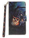 Painted Owl Pattern Card Can Lanyard PU Phone Case For Samsung Galaxy G530 G360 J1 J3 J5 (2016)