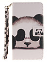 Painted Panda Pattern Card Can Lanyard PU Phone Case For LG G3 G4 G5 K7 K8 K10