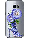 Capinha Para Samsung Galaxy Samsung Galaxy S7 Edge Estampada Capa traseira Flor Macia TPU para S7 edge S7 S6 edge plus S6 edge S6