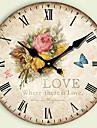 Moderne/Contemporain Autres Horloge murale,Rond Autres 34*34*3cm Interieur Horloge