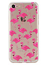 Pour iPhone X iPhone 8 iPhone 7 iPhone 6 Coque iPhone 5 Etuis coque Motif Coque Arriere Coque Flamant Flexible PUT pour Apple iPhone X