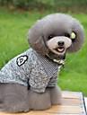 Кошка Собака Футболка Свитера Одежда для собак Сохраняет тепло Мода В полоску Темно-синий Серый Костюм Для домашних животных