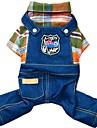 Cachorro Macacao Jaquetas Jeans Roupas para Caes Algodao Primavera/Outono Inverno Vaqueiro Fashion Jeans Laranja Rosa Para animais de