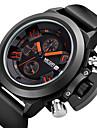 MEGIR 남성 스포츠 시계 밀리터리 시계 패션 시계 손목 시계 달력 크로노그래프 방수 석영 일본 쿼츠 실리콘 밴드 멋진 럭셔리 블랙