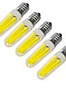 JIAWEN 5pcs 360lm E14 Luces LED en Vela 4 Cuentas LED COB Decorativa Blanco Calido Blanco Fresco 220V 220-240V