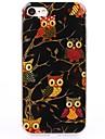 Multi Black Cartoon owl TPU Protection Back Cover Case for iPhone 7/7 Plus/6S/6Plus/SE/5S