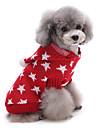 Gato Cachorro Sueters Natal Roupas para Caes Fofo Mantenha Quente Estrelas Vermelho Azul Ocasioes Especiais Para animais de estimacao