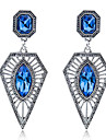Women\'s Diamond Drop Earrings - Sterling Silver Fashion Blue For Party / Daily / Casual
