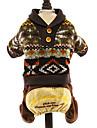 강아지 스웨터 점프 수트 강아지 의류 휴일 따뜻함 유지 패션 꽃 / 식물 다크 블루 그레이 커피 코스츔 애완 동물
