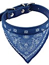 Cat Dog Collar Soft Bandanas Hands free Casual Cosplay Solid PU Leather Fabric Black Coffee Red Blue