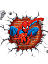 3D Cartoon Spider-Man Super Hero 3D Wall Stickers Removable Children\'s Bedroom Wall Decals
