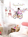 Personnage Nature morte Romance Stickers muraux Autocollants avion Miroirs Muraux Autocollants Autocollants muraux decoratifs Decoration