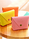 Macarons Color PU Leather Change Purse