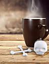 Silicone T-Bones Bones Skull Infuser Loose Leaf Tea Strainer Filter Diffuser