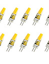 10pcs 1.5W 200-250 lm G4 Ampoules Mais LED T COB diodes electroluminescentes COB Decorative Blanc Chaud Blanc Froid AC 12V
