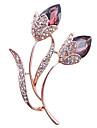 liga de moda / strass / broche de flor de cristal pin do partido das mulheres acessorio / dia / joias ocasional 1pc