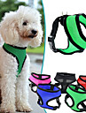 Dog Harness Adjustable / Retractable Breathable Solid Nylon Mesh Purple Rose Red Green Blue