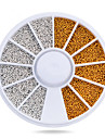 1pcs Gold Silver Tiny Circle Beads Nail Art Decoration Wheel 3d DIY Caviar Nail Accessories