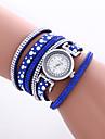 Women\'s Fashion Watch Wrist watch Bracelet Watch Colorful Quartz PU Band Vintage Heart shape Bohemian Bangle Cool CasualBlack White Blue Strap Watch