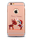 Para Antichoque / Galvanizado / Aspero / Estampada Capinha Capa Traseira Capinha Natal Rigida PC para AppleiPhone 7 Plus / iPhone 7 /