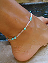 Turquoise Anklet - Turquoise Cross Beaded, European, Simple Style Silver For Party Daily Women\'s