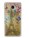 For Samsung Galaxy A5 (2016) A3 (2016) Flowing Liquid Pattern Case Back Cover Case Glitter Shine Soft TPU