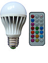 B22 E26/E27 Bombillas LED de Globo A80 3 leds LED de Alta Potencia RGB Regulable Control Remoto Decorativa AC 85-265